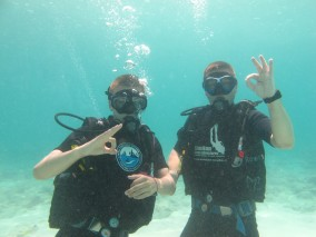 Fred and Hugo - PADI Open Water Diver course