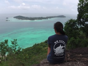 Ko Lipe Diving - Rebecca at the viewpoint