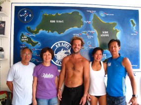 Ko Lipe Diving - Fun divers from Singapore with Vinz