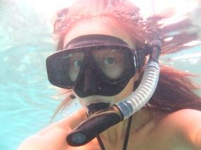 Ko Lipe Diving - Rebecca snorkeling