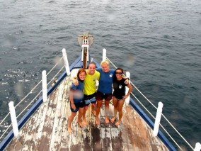 Team KLD Annika Johan Bonnie Rebecca Ko Lipe Diving