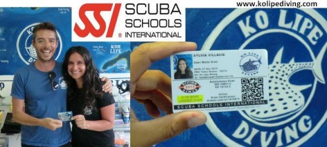 SSI certification card - KO LIPE DIVING